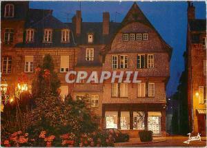 Moderne Karte Guingamp (Cotes d'Armor) Vieilles maisons de la place du Centre