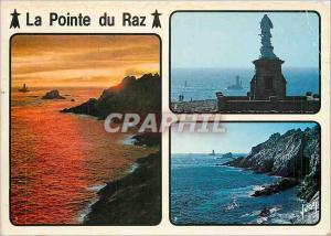 Moderne Karte La Bretagne La Pointe du Raz (Finistere) Notre Dame des Naufrages veille sur le Raz