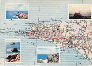 Moderne Karte La Pointe du Raz vue generale l'Extreme pointe la Pointe du Van
