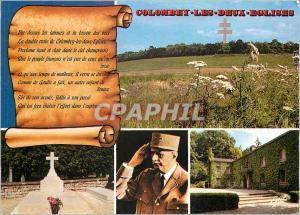 Moderne Karte Colombey les deux Eglises (Haute Marne) Le memorial du general de Gaulle