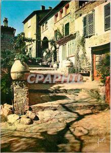 Moderne Karte Bormes les Mimosas (Var) Rue pittoresque dans le vieux Bormes