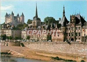 Moderne Karte Les Merveilles du Val de Loire Saumur Maine et Loire