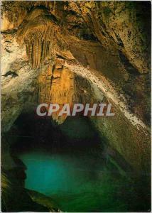 Moderne Karte Grottes des Trabuc Le Parc National des Cevennes Salle du Lac