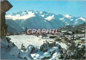 Moderne Karte Aussois Savoie Vue generale Chaine des Sarrazins
