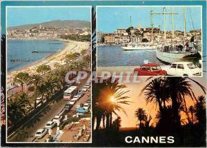 Moderne Karte Cannes La Croisette Le Suquet