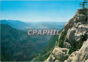 Moderne Karte Les Gorges Pittoresques du Verdon Route des Cretes Belvedere de la Carelle