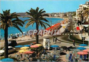 Moderne Karte La Cote d'Azur Menton La Perle de France La Promenade