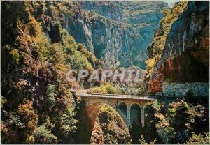 Moderne Karte Cote d'Azur French Riviera Les Gorges du Loup Le pont de l'Abime