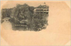 Ansichtskarte AK Scene at Riverton Phare Portland Lighthouse