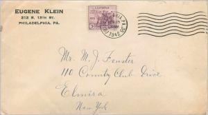 Lettre Cover Etats-Unis 3c NRA 1942 cover Philadelphia to New York