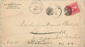 Lettre Cover Etats-Unis 2c Fitzwilliam 1896