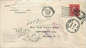 Lettre Cover Etats-Unis 2c Syracuse Return to sender 1925