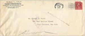 Lettre Cover Etats-Unis 2c Syracuse Return to sender 1928