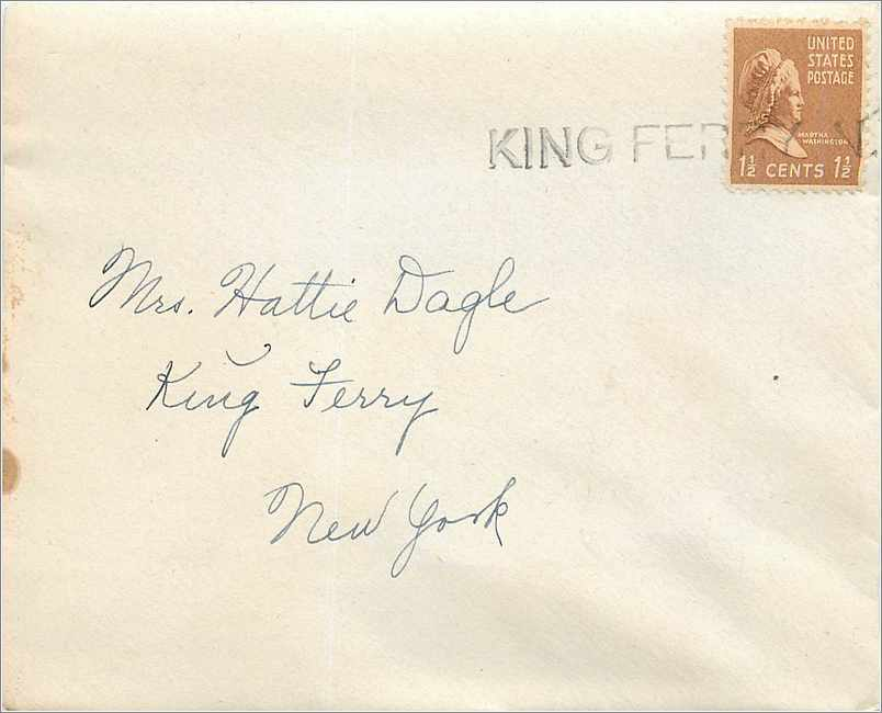 Lettre Cover Etats-Unis King Ferry NY 0