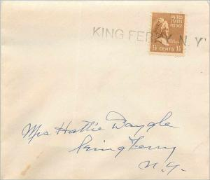 Lettre Cover Etats-Unis King Ferry NY