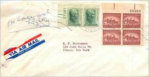Lettre Cover Etats-Unis multi frank cover to Ithaca