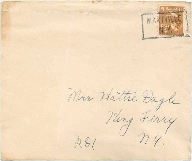 Lettre Cover Etats-Unis Martville NY 0