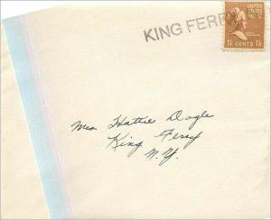 Lettre Cover Etats-Unis King Ferry