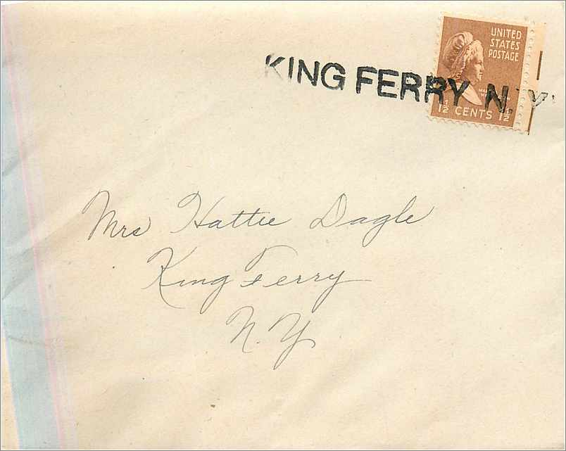 Lettre Cover Etats-Unis King Ferry 0