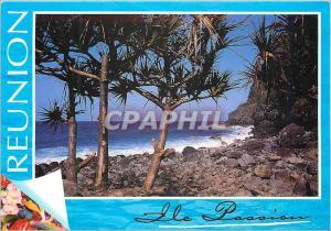 Moderne Karte Ile de la Reunion Vacoas a Manapany