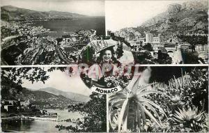 Moderne Karte Principaute de Monaco Vue generale Palais du Prince Monte Carlo vue generale Les jardins exotiqu