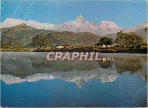 Moderne Karte Mt Machhapuchhare and Phewa Tal