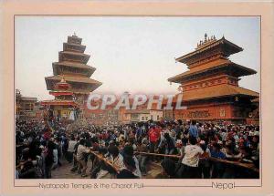 Moderne Karte Nyatapola Temple & the Chariot Pull Nepal