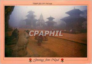 Moderne Karte Temples of Patan Nepal
