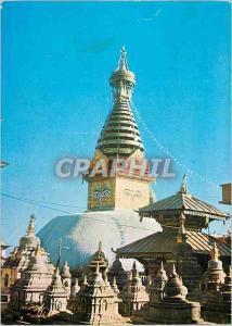 Moderne Karte Swoyambunath Stupa