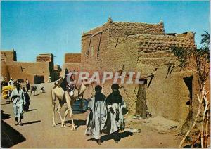 Moderne Karte Republique du Niger Agades Une rue de la ville
