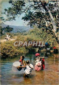 Moderne Karte Lessive dans la riviere