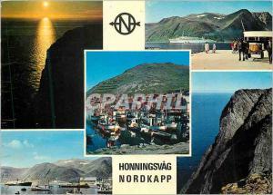 Moderne Karte Honningsvag Nordkapp Norway