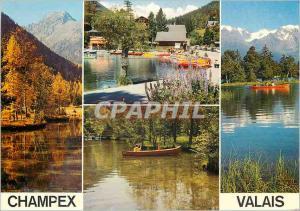 Moderne Karte Canotage sur le lac de Champex Valais