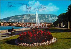 Moderne Karte Geneve Le Quai Wilson et le Jet d eau
