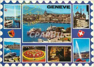 Moderne Karte Geneve Souvenir de Geneve