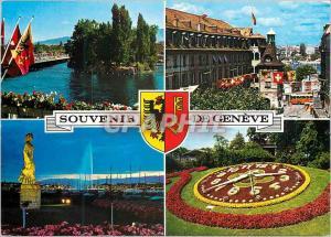 Moderne Karte Souvenir de Geneve