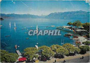 Moderne Karte Lausanne Rade d Ouchy Haut Leman et Alpes