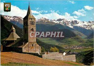 Moderne Karte Pirineu Catala Lleida Vall d Aran Eglise de Vilac au fond vieille