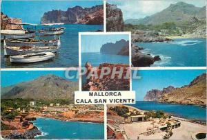 Moderne Karte Mallorca Cala San Vicente