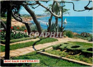Moderne Karte Costa Dorada Tarragona Roda De Bara Plage
