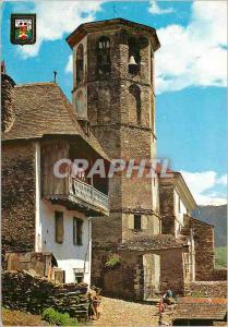 Moderne Karte Pirineu Catala vall d'aran arres eglise