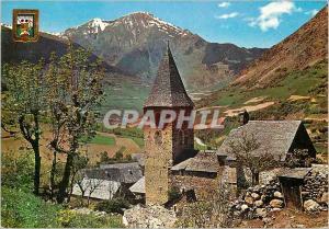 Moderne Karte Pirineu Catala Vall d'Aran au fond Viella