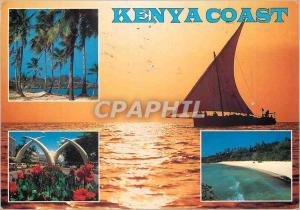 Moderne Karte East africa coast Kenya Bateau