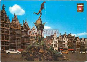 Moderne Karte Antwerpen grand place et brabo