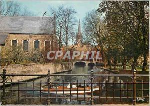 Moderne Karte Brugge pont du beguinage