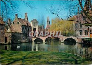 Moderne Karte Brugge entree du beguinage princier
