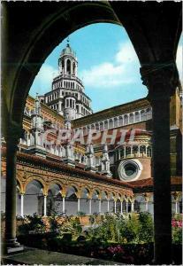 Moderne Karte Certosa di Pavia Cote sud de l'Eglise vu du petit Cloitre