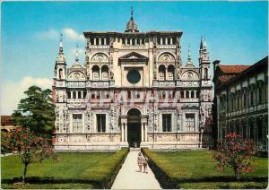 Moderne Karte Certosa di Pavia La Facade