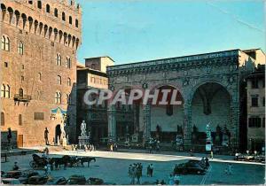 Moderne Karte Firenze place signoria et loge d'orcagna