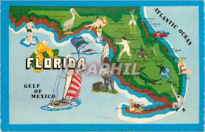 Moderne Karte Florida Crocodile Surf Bateau
